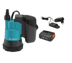 GARDENA Akumulatorowa pompa zanurzeniowa do czystej wody 2000/2 18 V P4A - zestaw