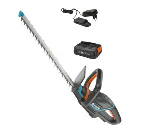 GARDENA Akumulatorowe nożyce do żywopłotu ComfortCut 50/18V P4A - zestaw